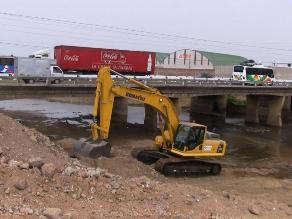 La Libertad: Inician trabajos de descolmatación del río Moche