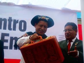 Ministro de Trabajo arribó a Huancavelica durante