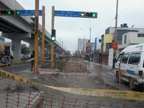 WhatsApp: Obras inconclusas generar problemas de tránsito en Surco