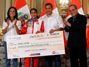 Nadine Heredia: Para el Perú Gladys Tejeda es una campeona