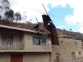Fuertes vientos afectan viviendas de la provincia de Junín