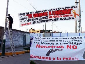 Huancayo: vecinos colocan letreros con amenazas contra delincuentes