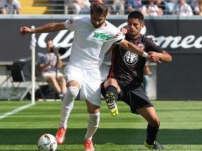 Carlos Zambrano: Eintracht Frankfurt empató con el Augsburg por Bundesliga
