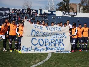 Argentina: Independiente reclama pago de sueldos con banderola