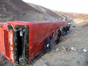 Jauja: 16 heridos deja despiste de ómnibus en Carretera Central