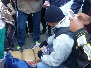 Ayacucho: hallan 12 kg de marihuana cuando era trasportada en mototaxi