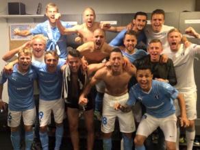 Yoshimar Yotún: Así celebró el Malmö la clasificación a la Champions League