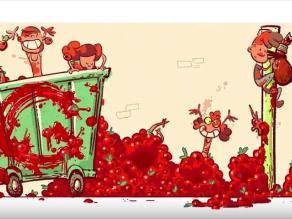 Google celebra los 70 años de la Tomatina con nuevo doodle