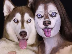 YouTube: Modelo se transforma en Husky con maquillaje