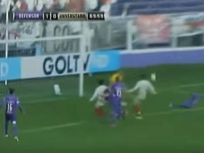 Universitario vs. Defensor Sporting: El gol que lamenta la hinchada crema