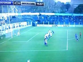 Universitario: El golazo de Defensor Sporting que dejó sin chance a Carvallo