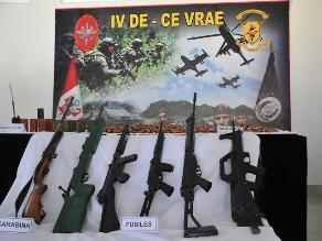 Incautan armamento utilizado por remanentes terroristas en el Vraem