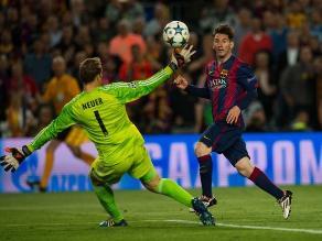 UEFA: Genialidad de Messi fue elegida el mejor gol de la temporada 2014/15