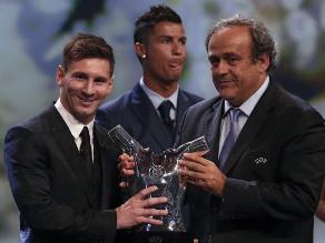 Cristiano Ronaldo: Así reaccionó tras ser derrotado por Messi en gala de la UEFA