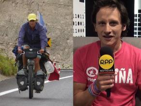 Ciclista recorre el mundo en favor de los niños más necesitados