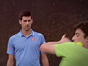 YouTube: Novak Djokovic impactado ante gran habilidad de tenista