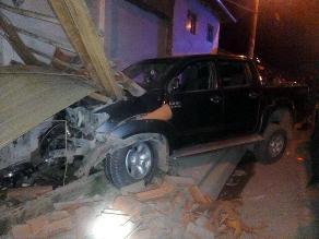 Andahuaylas: tres heridos graves deja despiste y choque de camioneta
