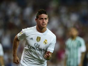 Real Madrid vs. Real Betis: James Rodríguez y un espectacular gol de chalaca
