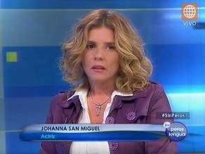 Johanna San Miguel ofreció disculpas a Jorge Bustamante