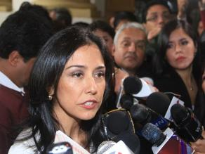 Nadine Heredia cuestionó informe final de la Comisión Belaunde Lossio