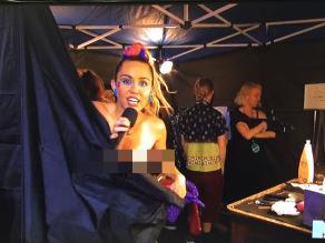 VMAs: Miley Cyrus dejó ver su pezón en vivo