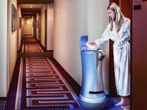 Hoteles de Silicon Valley utilizan robot para servicio de habitaciones