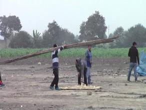 Huaral: invasores fueron desalojados de terreno ocupado hace cuatro meses