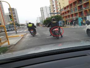 WhatsApp: policías conducen motos sin placa en Jesús María