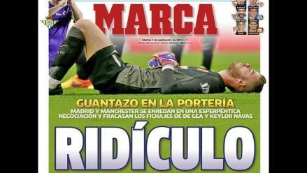 Real Madrid: Su papelón con De Gea acapara portadas en España