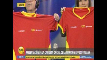 Maratón RPP Scotiabank 2015: Presentan moderna camiseta de la decimocuarta edición