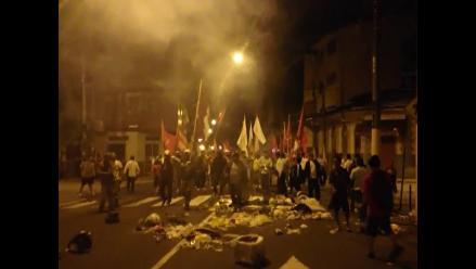 Loreto: con llantas quemadas se inició el paro de 48 horas por Lote 192