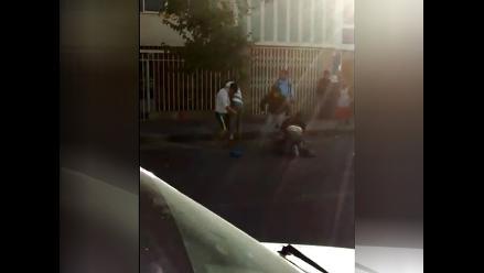 WhatsApp: Conductores se pelean en plena calle de Arequipa