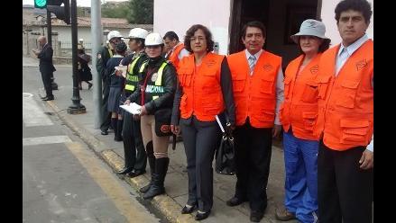 Cajamarca: conductores infractores recibieron papeletas informativas