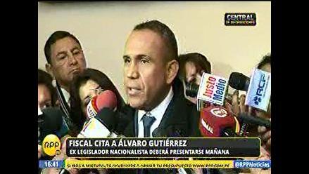 Caso Nadine Heredia: Exnacionalista Álvaro Gutierrez citado por la Fiscalía