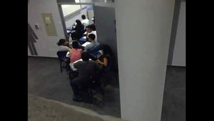 SJL: alumnos estudian fuera de salón en universidad