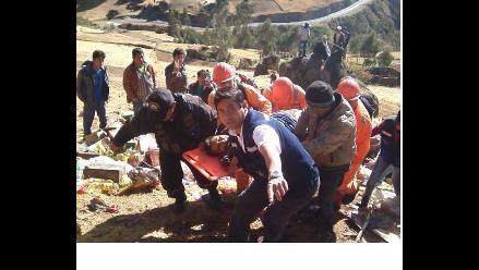 La Libertad: cuatro heridos deja vuelco de camión en Santiago de Chuco