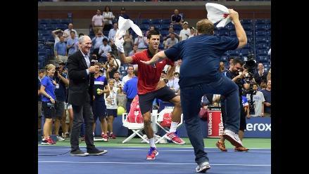 YouTube: Novak Djokovic festeja triunfo en el US Open bailando con fan