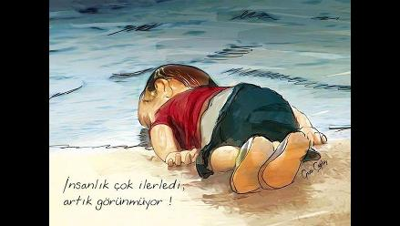Twitter: emotivas imágenes para despedir al niño sirio que murió ahogado