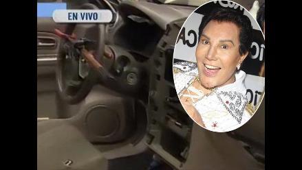 Desmantelan auto de Jimmy Santi en la puerta de su casa
