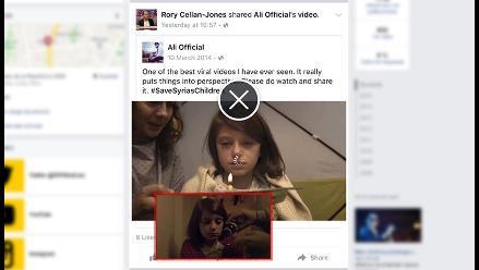 Facebook comienza a probar su nuevo reproductor de vídeo