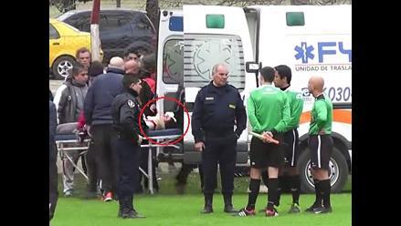 Fútbol argentino: Jugador se fractura la mandíbula al chocar con poste