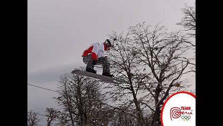 Team Perú: Víctor Chávez encabeza campeonato de snowboard en Chile