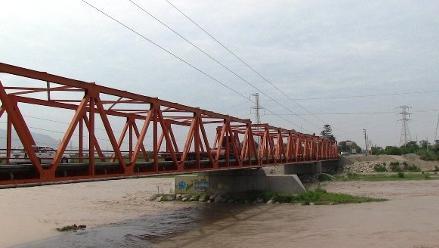 Lambayeque: dos puentes en alto riesgo por lluvias de