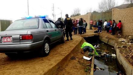 Huaral: hallan cuerpo de desconocido en canal de regadío