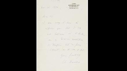 Subastan carta de Darwin en la que aclara que no cree en la Biblia