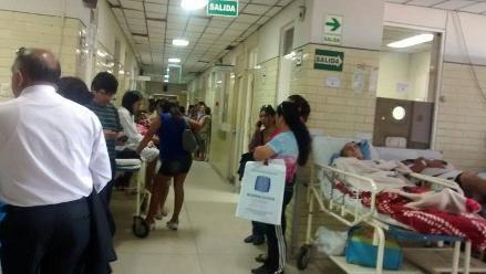 Trujillo: Denuncian hacinamiento en emergencia del hospital Lazarte
