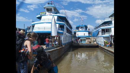 Yurimaguas: embarcaciones varadas por bajo nivel del río Huallaga