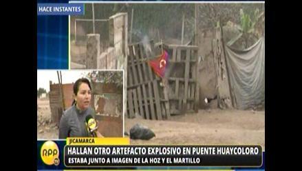Alcaldesa duda que senderistas hayan dejado explosivos en Jicamarca