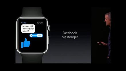 Facebook Messenger llegará al Apple Watch