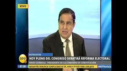 Otárola espera que se apruebe Ventanilla Única de Aportantes
